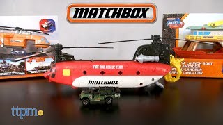 matchbox Power Launcher Chinook Helicopter from Mattel