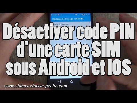 supprimer code pin carte sim Désactiver code PIN carte SIM (Android et IOS)   YouTube