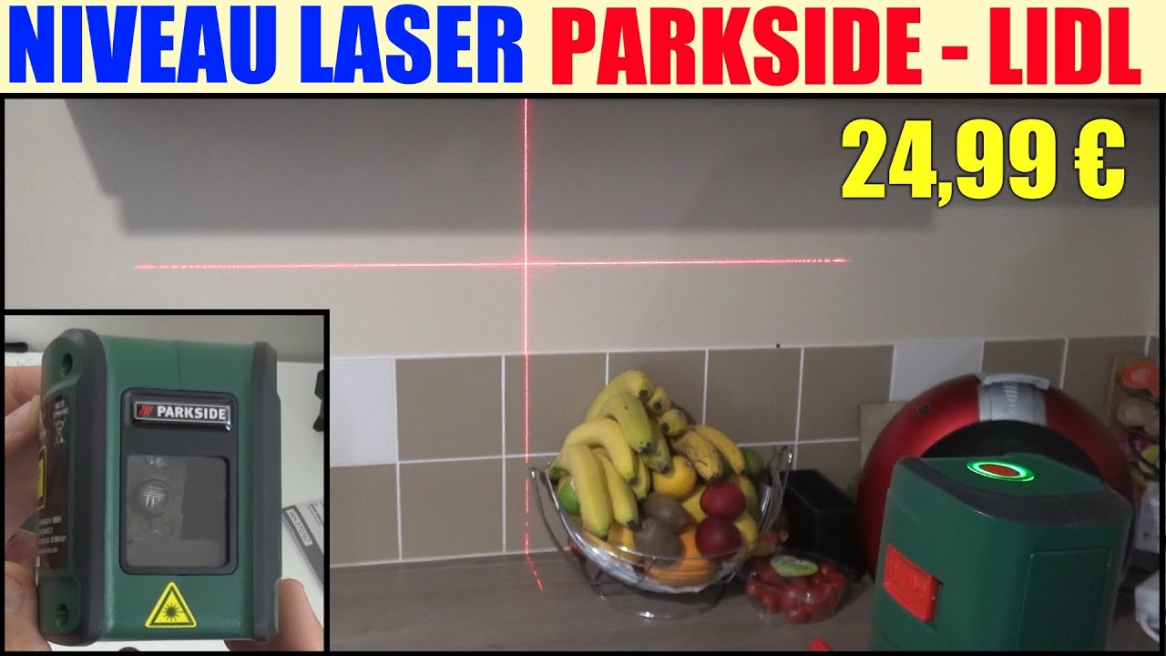 niveau laser en croix parkside lidl pkll 7 a1 cross line laser kreuzlinienlaser youtube. Black Bedroom Furniture Sets. Home Design Ideas