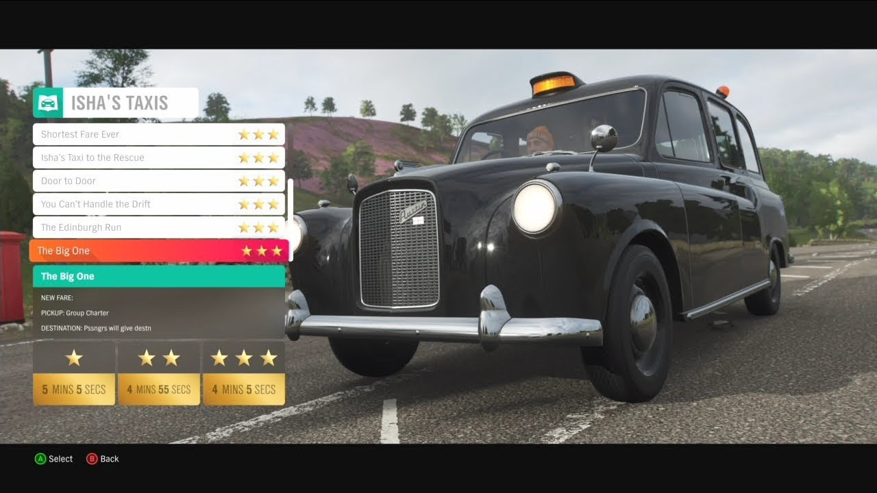 Forza Horizon 4 - 3 Stars on ALL ISHA'S TAXI MISSIONS - GUIDE (Including  Shortcuts)