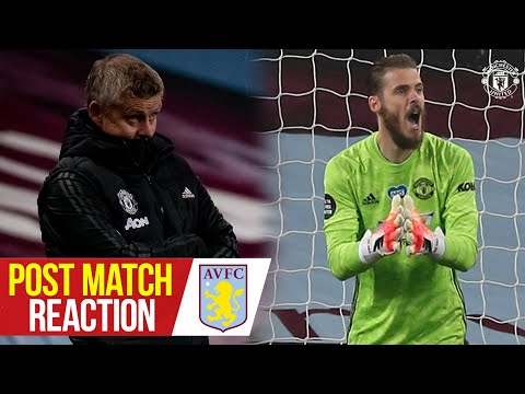 Ole Gunnar Solskjaer & David De Gea react to Reds win | Aston Villa 0-3 Manchester United
