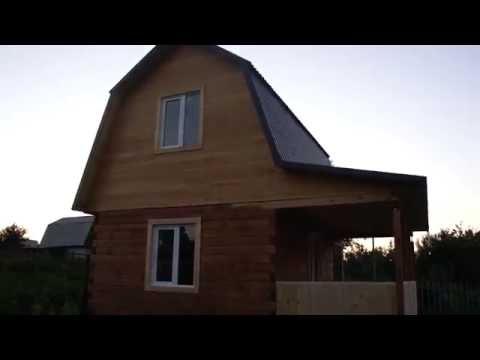 Дом из бруса 4х6 (ЛесДомСтрой54)  с мансардой и террасой под ключ