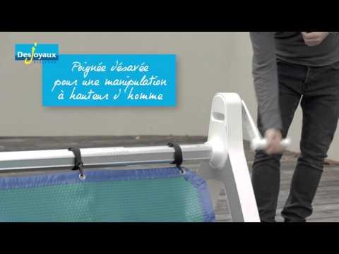 enrouleur de piscine desjoyaux jd roller youtube. Black Bedroom Furniture Sets. Home Design Ideas
