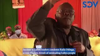 Section of Luhya leaders condemn Raila, accuse Atwoli of misleading Luhya people