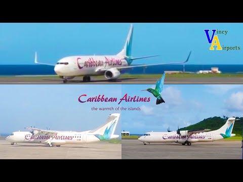 Caribbean Airlines  Landing & Taking Off @ Argyle International Airport