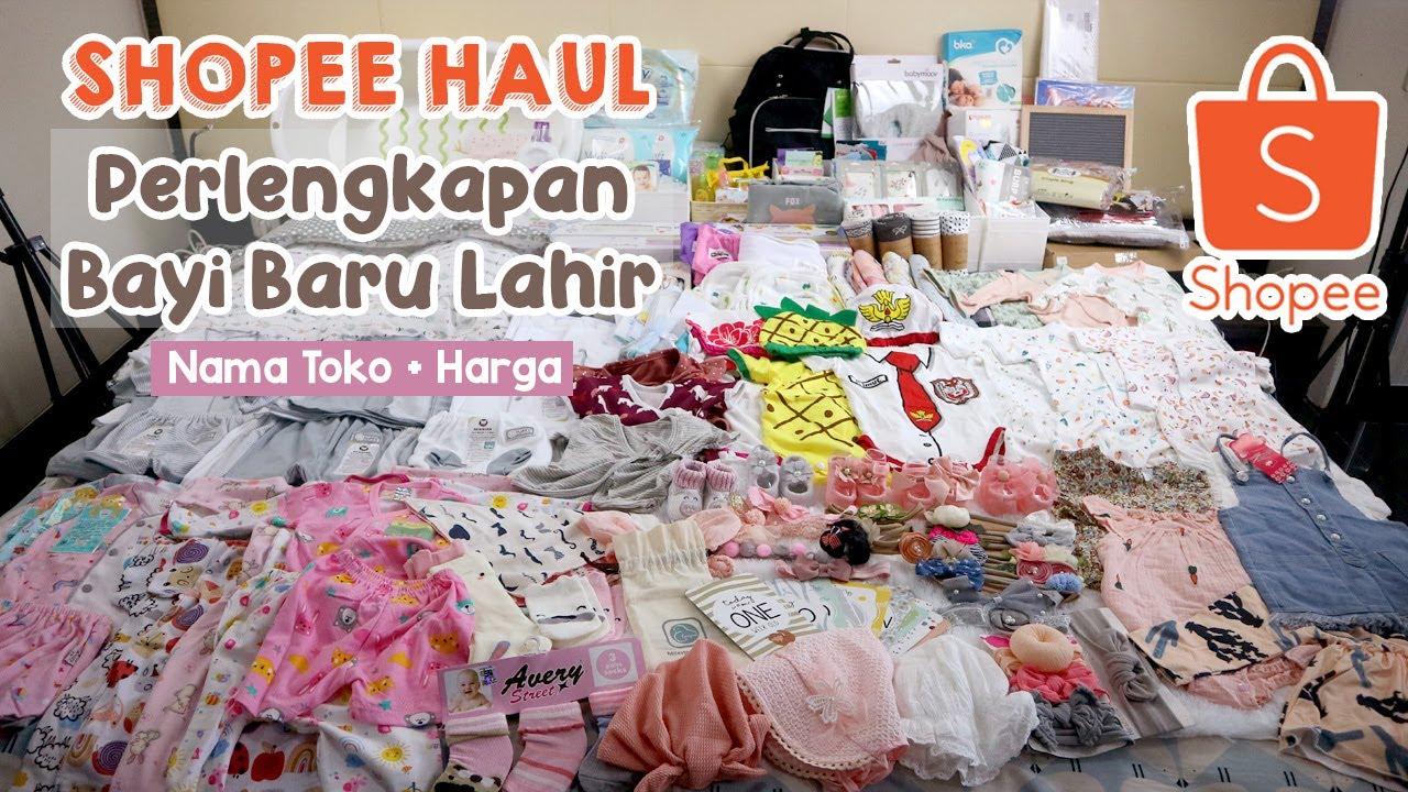 Shopee Haul Perlengkapan Bayi Baru Lahir (Lengkap, nama toko + harga)
