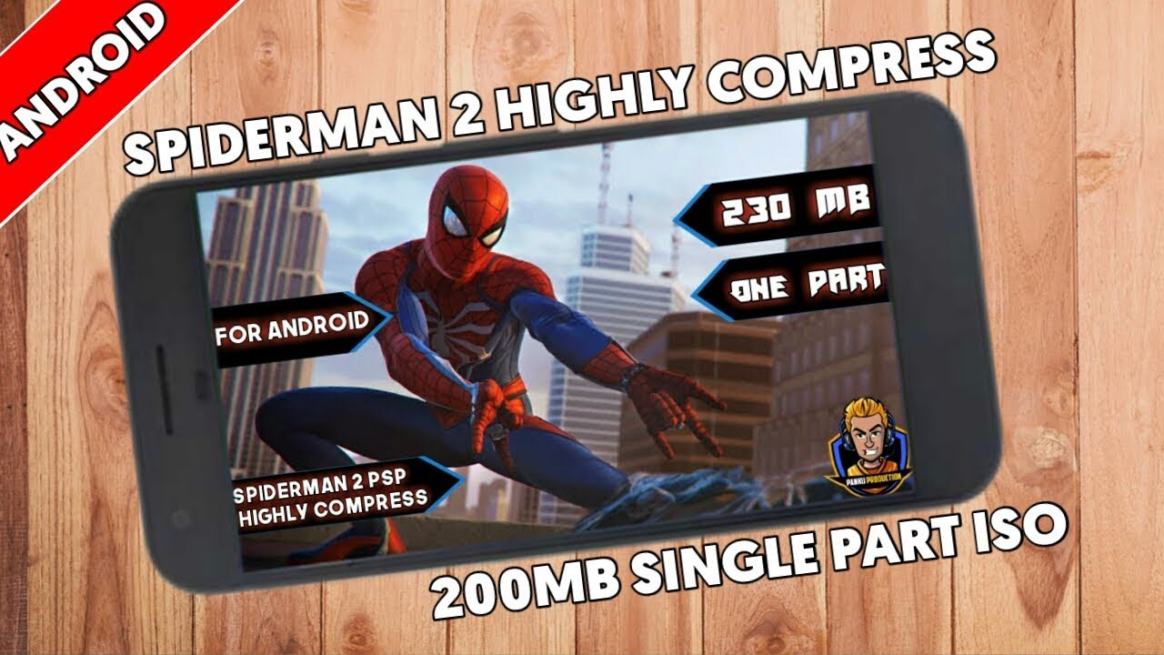[200MB] Download Spiderman 2 PSP Highly Compressed For Android