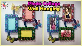 DIY-Handmade photo frame wall hanging/ Best out of waste craft/ wall hanging idea/ Wall decor