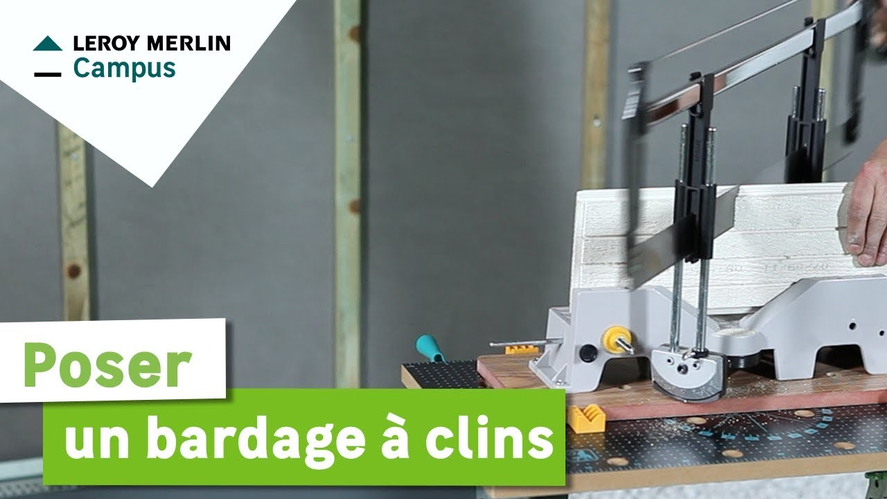 Fixer Cable Electrique Mur Exterieur Comment Poser Un Bardage Clins Leroy Merlin Youtube