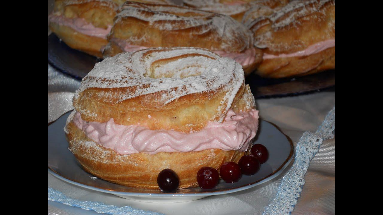 рецепт приготовление пирожное кольцо заварное с кремом