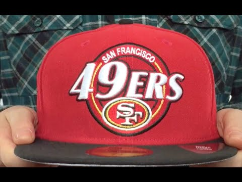 49ers  CIRCLE-CLOSER  Red-Black Fitted Hat by New Era - YouTube 1335b0a6f80