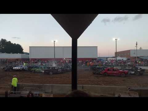 Demolition Derby at the 2016 Highland County Fair # 1