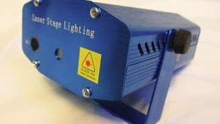 Лазерный мини проектор (Laser stage lighting mini)