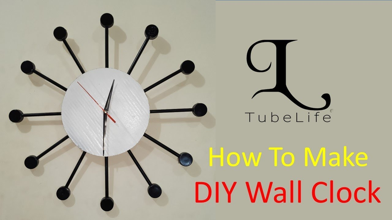 Diy Wall Clock How To Make A Wall Clock With Wastages Handmade