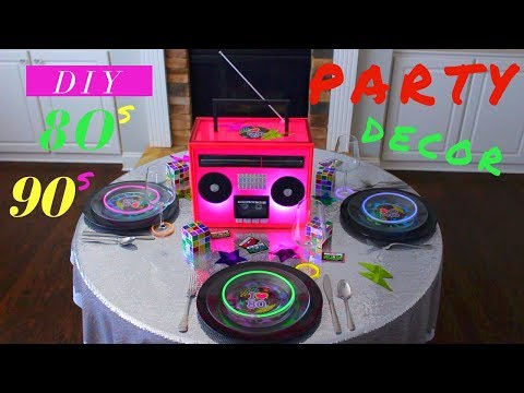 diy-80s-or-90s-party-decoration-ideas|-glow-in-the-dark-party-decoration-ideas