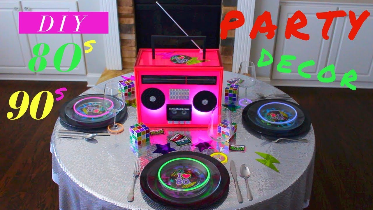 DIY 80s or 90s PARTY DECORATIONS | NEON GLOW IN THE DARK PARTY IDEAS & DIY 80s or 90s PARTY DECORATIONS | NEON GLOW IN THE DARK PARTY IDEAS ...