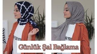 ŞAL BAĞLAMA-İğnesiz Kolay Şal Bağlama-Hijab Tutorial