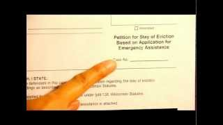 How to complete the Petition for Stay of Eviction form