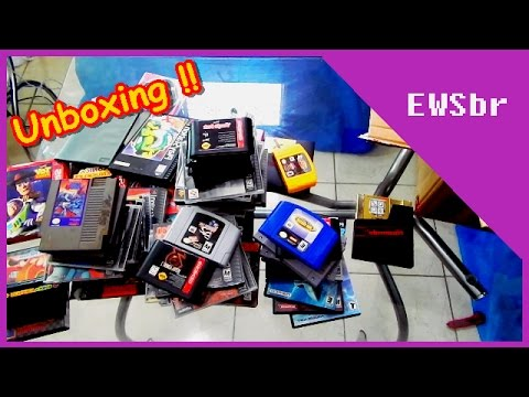 Games direto dos U.S.A ! Unboxing especial CANAL 3 games clássicos