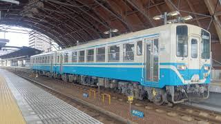 キハ32形気動車、連結の2両編成 回送列車 高知駅より