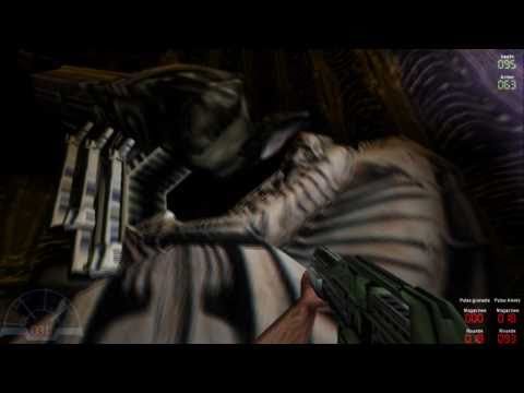 Aliens vs Predator Classic 2000 Walkthrough Marine Episode 1 Derelict