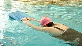 小豪教練游泳教學天地-(適應體育)學員初級自由式划手2