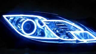 Mazda 6, ангельские глазки в стиле ТРОН