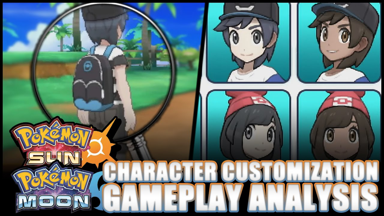 Pok 233 Mon Sun And Moon Character Customization Confirmed