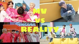 BTS MV vs REALITY 🔥 BOY WITH LUV ft HALSEY