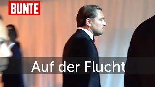 Leonardo DiCaprio - Hier flüchtet er von den Golden Globes! - BUNTE TV