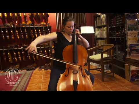 Lily Hubbard Demonstrates A Cello By Rene Jacquemin  -  Bach, Suite 5