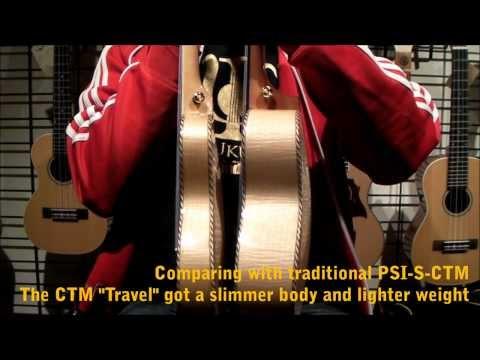 "PSI Ukuleles Standard Series - PSI STD ""Travel"" Concert w/ Laminated Flamed Maple ""Sound Demo"""
