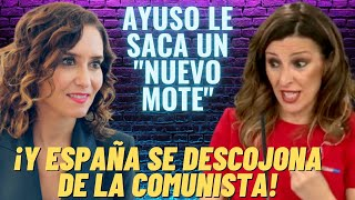 😂AYUSO le ENCUENTRA un NUEVO MOTE a la COMUNISTA YOLANDA DÍAZ😂¡Y LOS ESPAÑOLES ESTALLAN DE RISA!😂