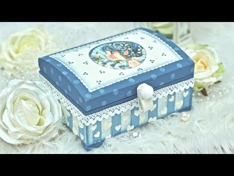 Decoupage box for a girl tutorial - DIY by Catherine