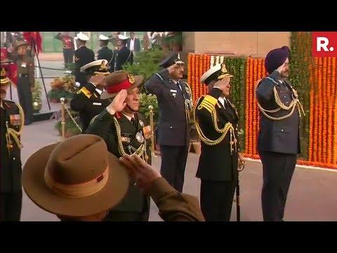 Army Chief General Bipin Rawat Pays Tribute At Amar Jawan Jyoti On Army Day