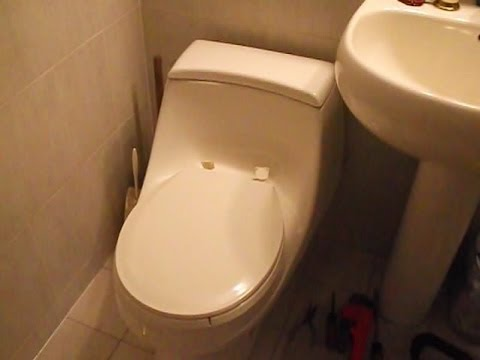 How to remove the toilet seat from a Kohler Onepiece Model K3434