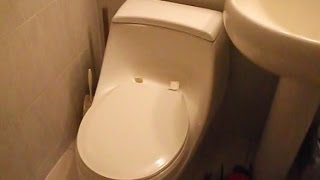 How to remove the toilet seat from a Kohler One-piece Model K3434