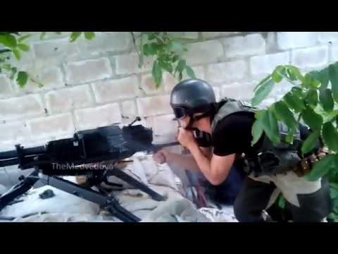 DPR militias are fighting with Ukrainian forces under Marinka, Donetsk region