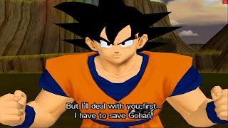 Dragon Ball Z Budokai Walkthrough Part 1 - Goku Picollo vs Raditz (PCSX2 + Sweetfx)