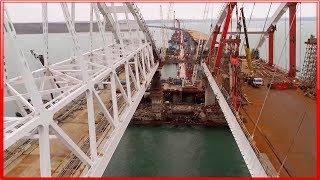 КРЫМСКИЙ МОСТ. Строительство сегодня 12.12.2017. Керченский мост.