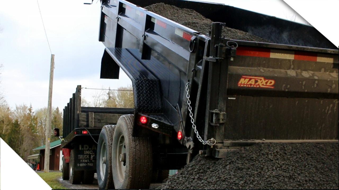 Hauling 15 Tons Of Gravel Maxey 7x14 Dump Trailer Pt 2 Youtube Snake River Wiring Diagram