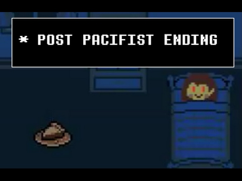 What Happen if you do Pacifist After Genocide? - Undertale - Post Pacifist Ending DIFFERENCE