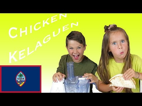 Kids try food from Guam | Chicken Kelaguen
