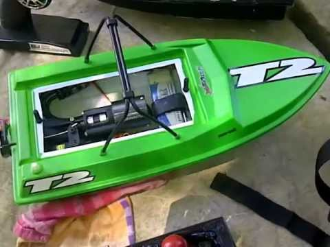 Rc jet boat NQD with KMB 28mm Jet drive on 2s - YouTube