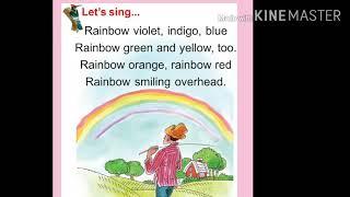 শ্রেণী-প্রথম আমার বই পাতা নং-১২৮, Rhyme--'Rainbow violet,indigo,blue'