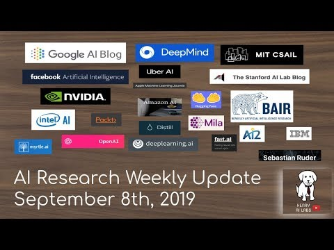 AI Research Weekly Update September 8th, 2019