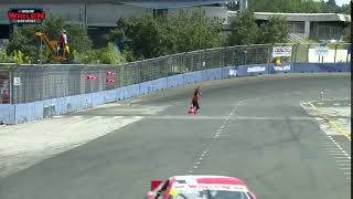 Cone Guy putting up a show at the NASCAR GP France