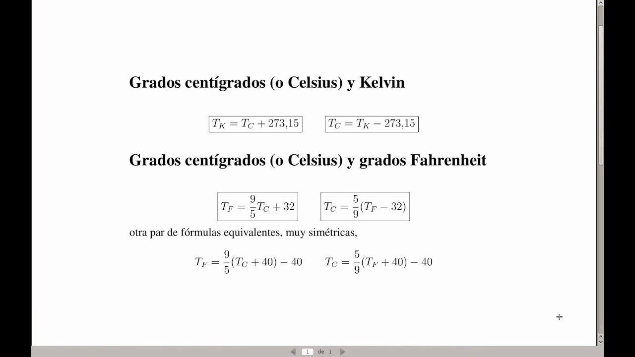 Teoria Escalas De Temperatura Celsius Fahrenheit Y Kelvin