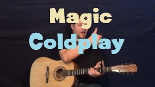 magic (coldplay) easy guitar lesson how to play tutorial