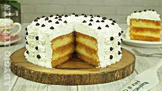 Tort cu crema de vanilie si sirop de caramel | Tort Petre Roman